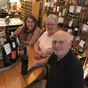 guests enjoying wine at Ellen's Wine Room